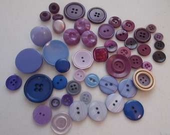 Purple Buttons Purple Assorted Buttons  B320