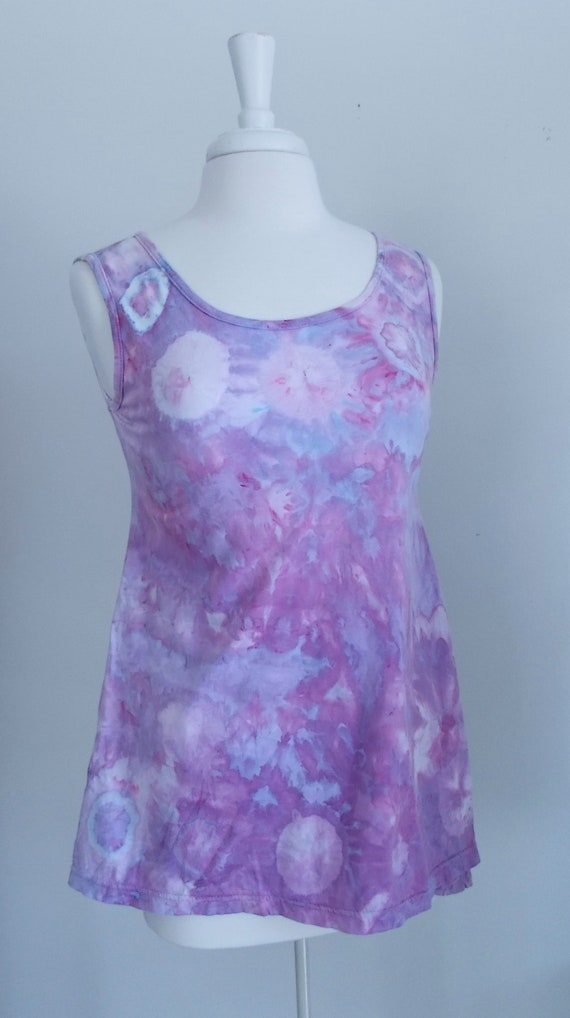 Ice dye tie dye  Hi-Lo Women's Small Sleeveless Top