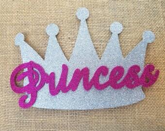 Silver Princess Crown, Corona de Princesa Platiada, Glitter Crowns, Party Decor, Silver Crown, Party Supplies, Princess Party,