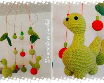 Mobile for baby dino (PDF in french)