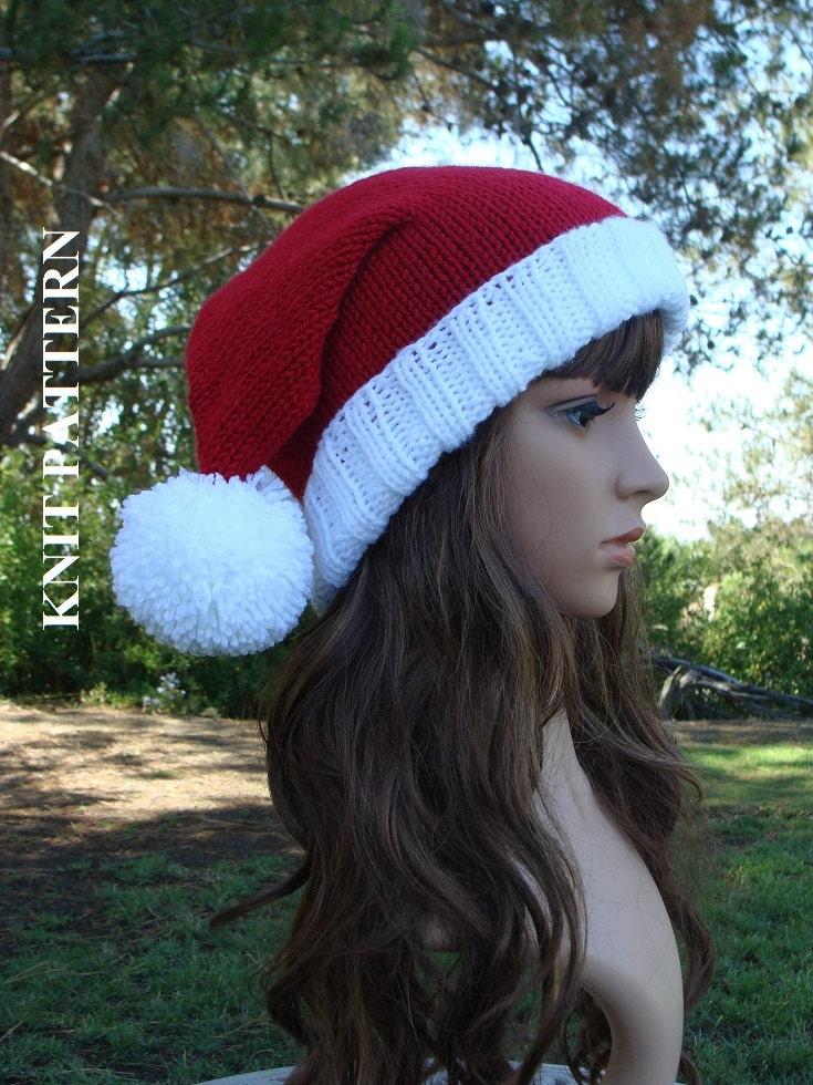 Contemporáneo Free Knitted Santa Hat Pattern Ornamento - Manta de ...