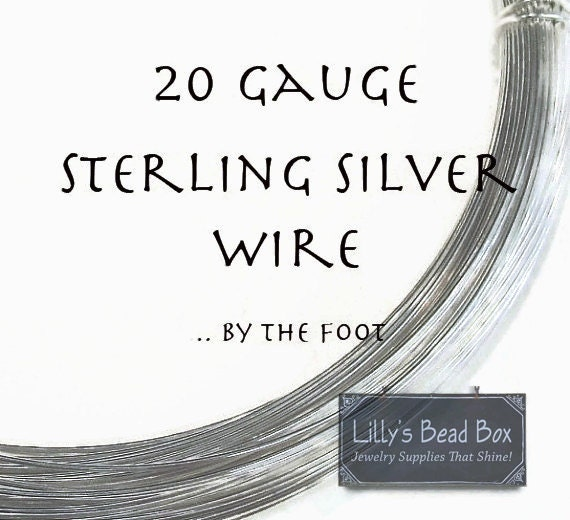 20 Gauge Wire, Sterling Silver Wire, By The Foot, Wire for Making Jewlery, Round, Half Hard, Wire Wrapping Supplies