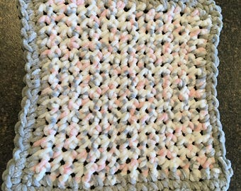 Baby Snugglie, Lovey Blanket, Crocheted, Security Blanket, Cuddle Blanket, Super Soft, Baby Gifts, Baby Shower Gift, Baby Girl Gift