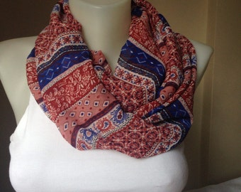 Authentic Designed Scarf, Reddish Brown Scarf, ,Gift for her women boss sister wife girlfriend aunt