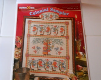 Cross Stitch Leaflet -- Colonial Sampler -- New