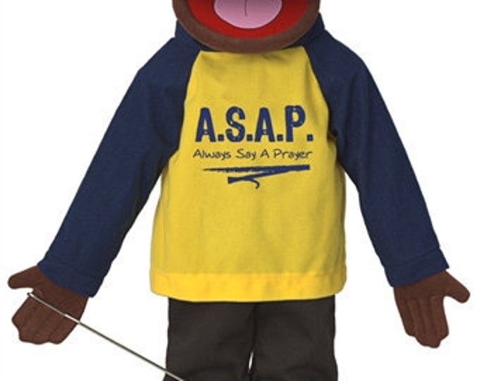 """New 25"""" Puppet Boy w/ """"Always Say A Prayer"""" Shirt - Full Body Professional Puppet for Puppet Ministry & Church"""
