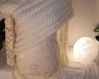 Wedding Scarf Vest Gr. S-M wool panem Katniss scarf vest poncho bolero wedding jacket coat cardigan cardigan knitted jacket hand Knitted