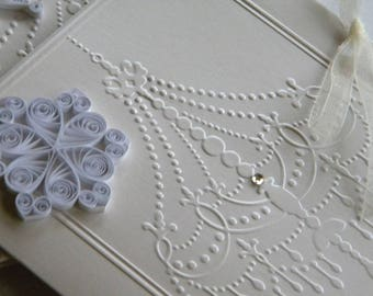Snowflake wedding invitation Winter wedding invitation Snow wedding theme Chandelier wedding theme White winter wedding White wedding invite