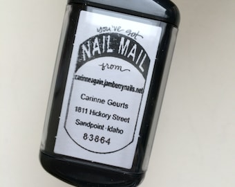 Self Inking NAIL MAIL Return Address Detail Stamp