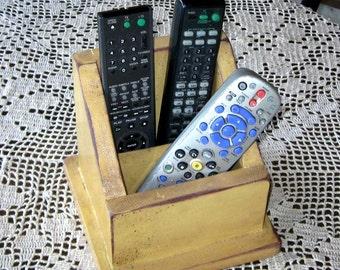 Primitive Style TV Remote Holder