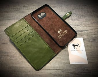 NEW Samsung 9/S9 Plus Note 8/S8/S8 Plus  Leather Case Wallet Bifold Style colour to CHOOSE
