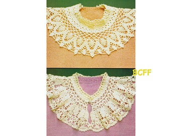 Victorian Collars Crochet Pattern Women's Collars Digital Crochet Pattern Instant Download