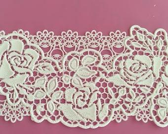 "Edible Lace, Cake Lace ""Roses""  design Rose Wedding - Vintage, Antique - Romantic Roses,  Edible Lace"