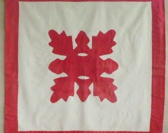 Antique Red and White Appliqued Wall Hanging  SALE - was 38.00