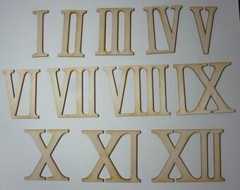 Wooden roman numerals / numerics 3 inch  high for handicrafts