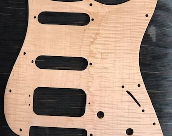 Fender Stratocaster HSS Pickguard shown in Flame Maple