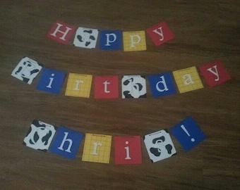 Toy Story inpired Birthday Banner