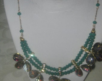 Crystal, Bead and Rhinestone Necklace