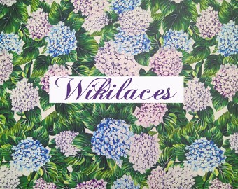 Fabulous Hydrangeas  Floral Fabric. Imported.