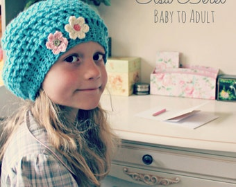 Download Now - CROCHET PATTERN Elsa Beret - Baby to Adult - PDF