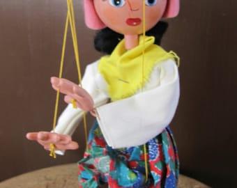 Marionnettes de Pelham dans boîte d'origine, fabriqué en Angleterre marionnettes, marionnette Pelham Vintage mère, mère marionnettes Marlborough Wilts, idée cadeau