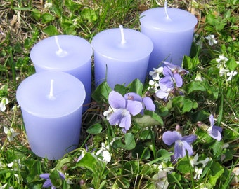 VIOLETS (4 votives or 4-oz soy jar candle)