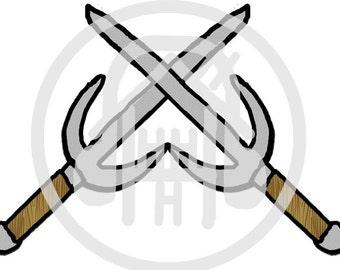 sai swords crossed