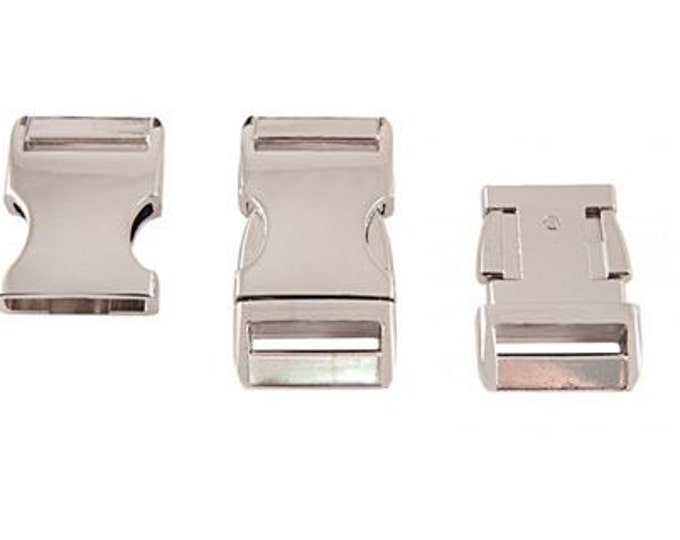 "UPGRADE to Aluminum Side Release Buckle for 1"" Collar - CupcakePups Dog Collars"