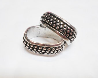2 Regaliz Electro-plated Sterling Silver Medium Dots Sliders,