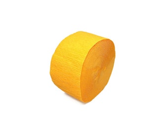 Gold Yellow Crepe Paper Streamer Roll - 81 Feet Long - Paper Craft Party Supplies