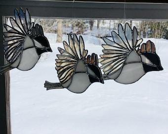 Chickadee suncatcher
