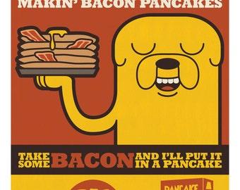 Adventure Time: Bacon Pancakes Print 11x17