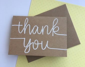 8-PK// Hand-lettered Thank you notes