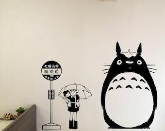 My Neighbor Totoro At Stop Sign With Satsuki And Mei Wall Decal Home Decor  Vinyl Sticker