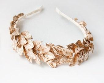 Golden leaves, Gold Crown, Gold Leaf Crown, Crown, Greek God, Gold Leaf,  Carnival
