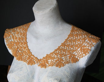 yellow Lace collar crochet knitting