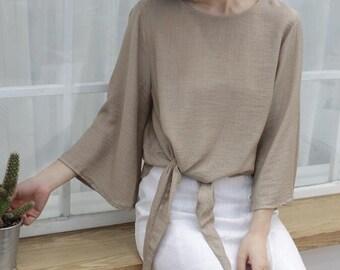 Cotton&Linen Blouse For Lady