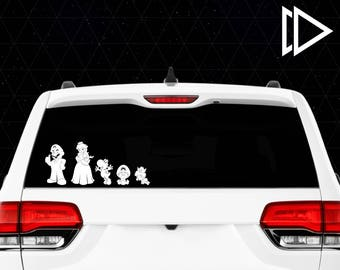 Super Mario Stick Figure Family Car Window Vinyl Decals