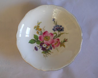 Porcelain Bowl, Gloria Fine Porcelain, Bowl with Handle, Made in West Germany, Serving Bowl, Serving Dish