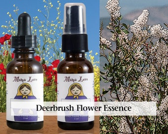 Deerbrush Flower Essence, 1 oz Dropper or Spray for Knowing and Acting on Your Inner Truth