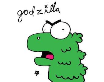 8x10 Godzilla print