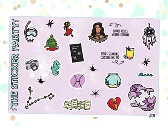 PISCES' Favorite Things | Zodiac Pisces Planner Stickers