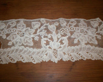 Unique hand done heirloom lace