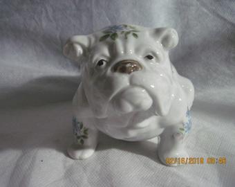 Vintage Porcelain Bull Dog Figurine Royal Orleans Japan