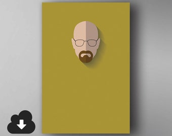 Walter White Inspired. Minimalistic. Breaking Bad. TV Show Poster. Downloadable Wall Art.