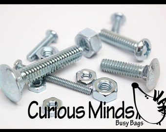 Nuts and Bolts fine motor and puzzle Busy Bag