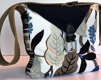 Floral Purse, Floral Tote, Floral Handbag, Satchel Purse, Crossbody Purse, Recycled Tote Bag, Handmade Crossbody, Fabric Tote Bag, Purse