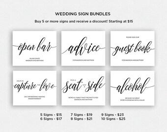 Wedding Sign Bundle | BUNDLE 1 | Wedding Reception Signs | Printable Wedding Signs | EDN 5384 - 5408