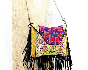 Hand bag ethnic, boho bag, embroidered hand bag