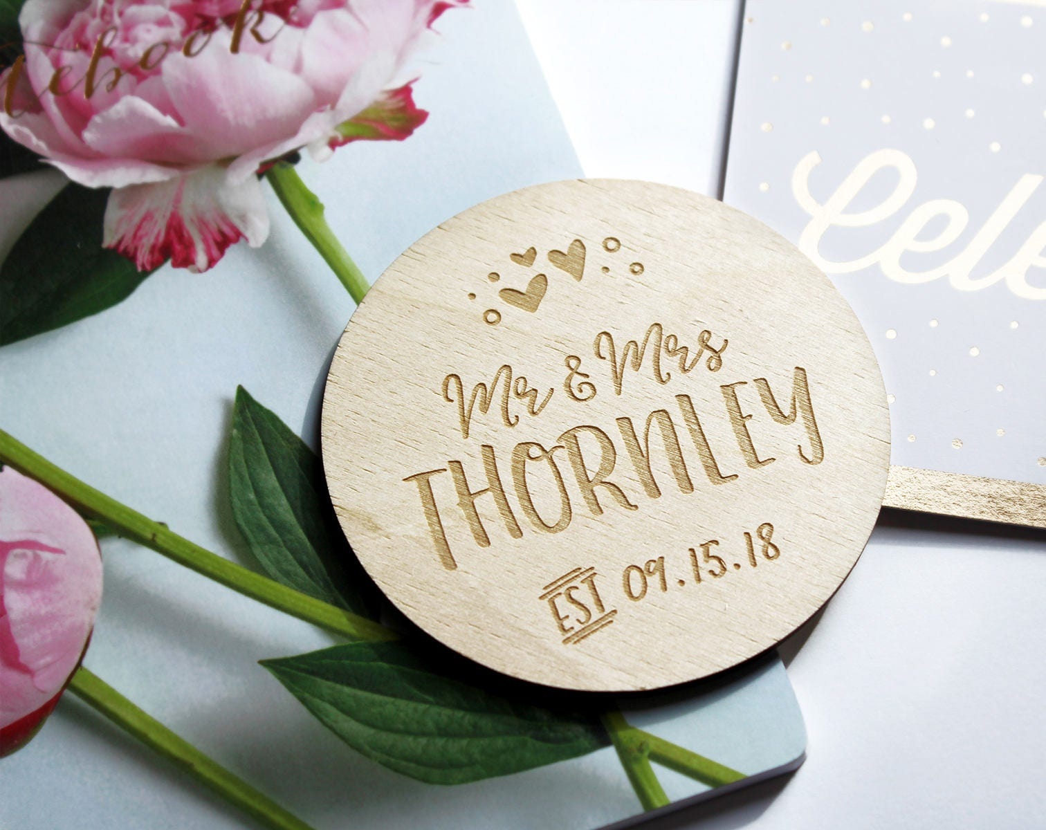 Wood Coasters, Engraved Coasters | Personalized Coaster - Engraved Gift - Wedding Gift - Wedding Coasters - Rustic Coaster - Wedding Favor